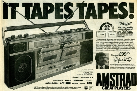 Twin Cassette Tape Recorder