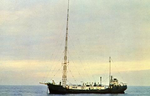 Radio Caroline 1970s Postcard