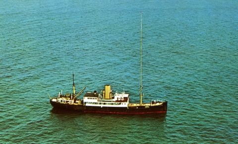 Radio Caroline North Postcard 1960s