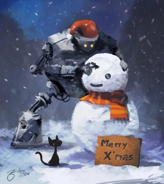 Robot and Snowman