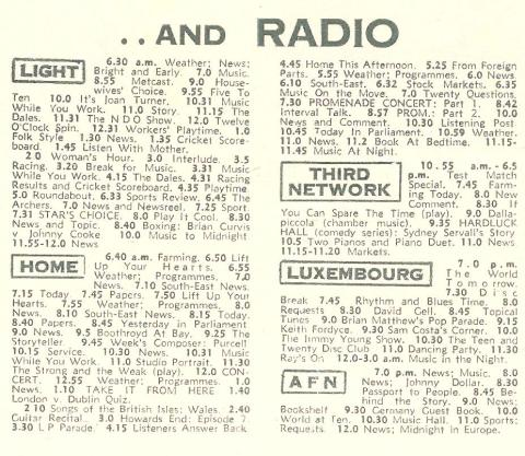 Tuesday 28th July 1964