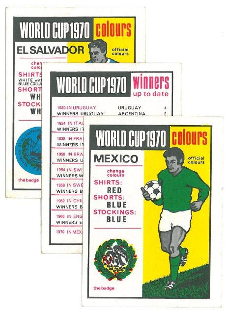 World Cup 1970 cards
