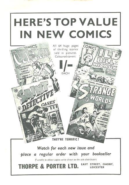 Thorpe and Porter comics 1952