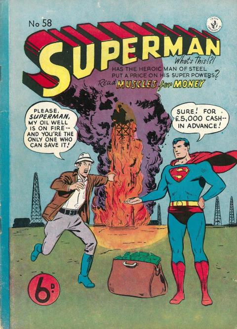 Superman 58 UK cover