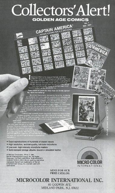 Microfiche comics